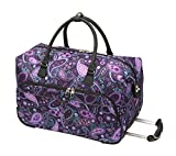 Ricardo Beverly Hills Mar Vista 20-Inch 2 Wheel City Rolling Duffel, Purple Paisley