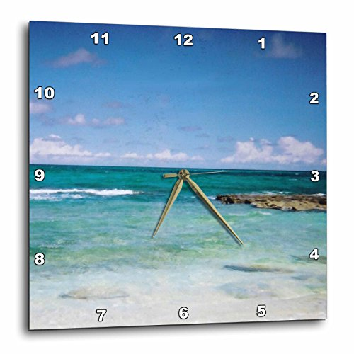 3dRose Renderly Yours Scenic Inspirations - Lovely Clear Ocean - 13x13 Wall Clock (dpp_22276_2)
