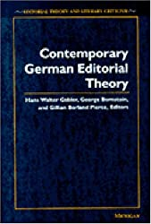 Contemporary German Editorial Theory (Editorial Theory and Literary Criticism)