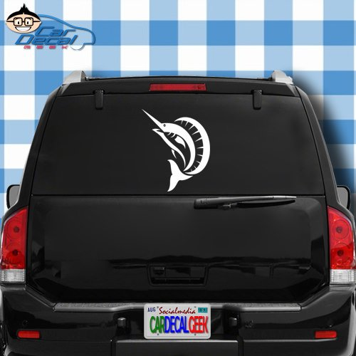 - Sailfish Fishing Vinyl Decal Sticker for Car Truck Window Laptop MacBook Wall Cooler Tumbler | Die-Cut/No Background | Multiple Sizes and Colors, 14-Inch, Blue