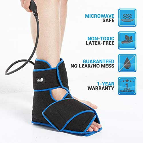 Bodyprox Ankle Ice Pack Injuries, Hot & Cold Air Compression Ankle Brace Support, Helps Stabilize Relieve Achilles Tendon Pain, Ankle Sprains, Arthritis, Joint Pain Sports Injury by Bodyprox (Image #5)