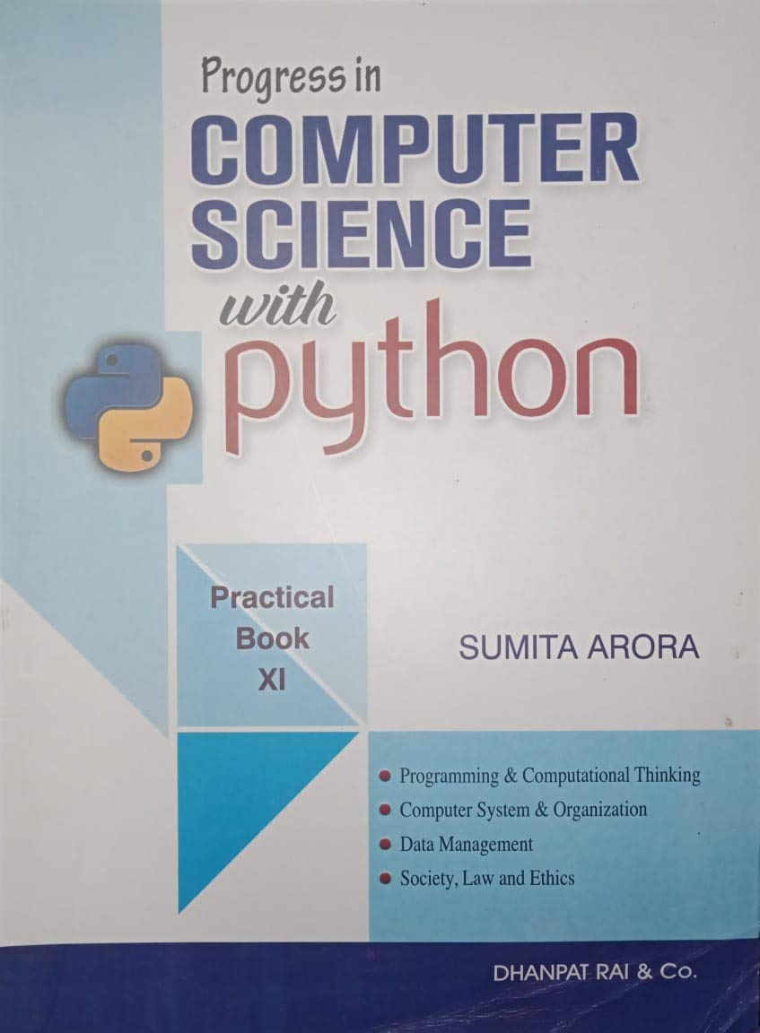Computer Science With Practice Book Textbook for Class 11
