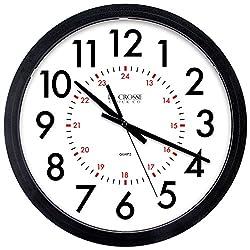 LaCrosse 404-2636B-INT Info-Tech Commercial Wall Clock, 14, Black