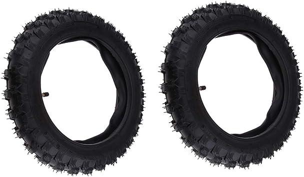 Homyl 2 Pieces 2.50-10 Heavy Duty Rubber Tire Inner Tubes with Straight Valve Stem for Yamaha PW50 PW 50 ATV Motocross
