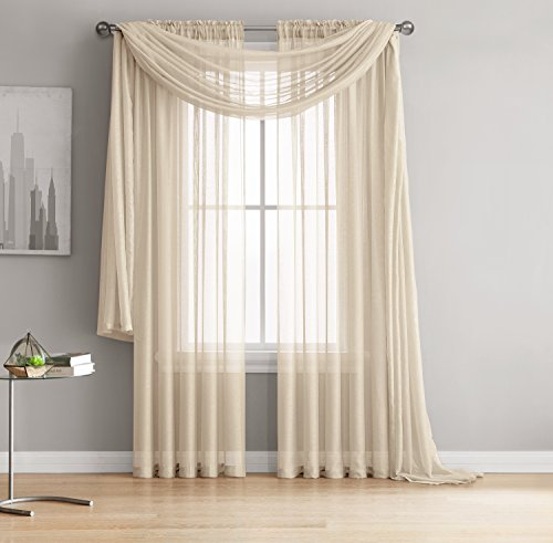 Living Room Curtains amazon living room curtains : Sheer Living Room Curtains: Amazon.com