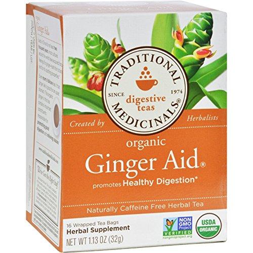 Traditional Medicinals Organic Ginger Aid Herbal Tea - Caffe