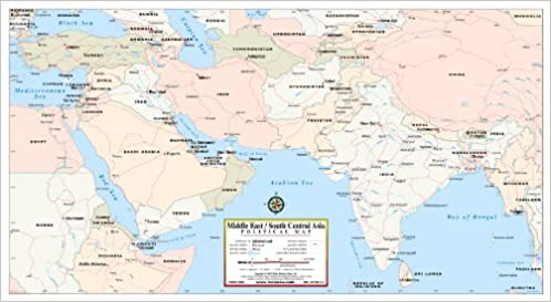 Political Map Of Central Asia.Middle East South Central Asia Political Map Phoenix