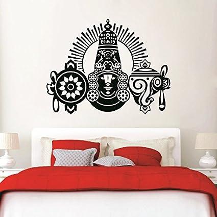 Syga black beautiful god balaji decals design wall stickers