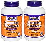 NOW Foods Chromium Picolinate 200mcg, 250 Capsules (250x2)