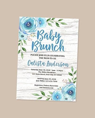 Amazon Com Brunch Baby Shower Invitations Rustic Floral Brunch