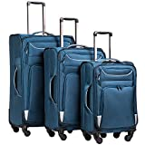 Best Light Luggages - Coolife Luggage 3 Piece Set Suitcase Spinner Softshell Review
