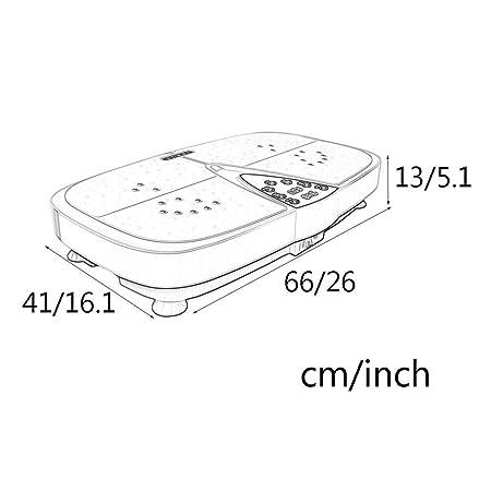 QNJM Máquina De Plataforma Vibratoria: Máquina De Ejercicios De ...