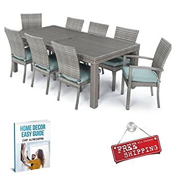 Amazon.com: ATS 9 Piece Patio Dining Set Furniture Outdoor ...