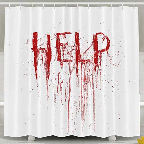Silinana Halloween Decor Bloody Help 6072 Inch Bathroom