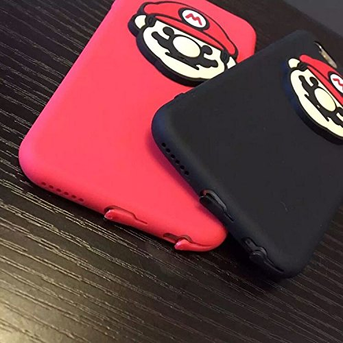 4bbcbfb21e Amazon   マリオ 創意 2種類 面白い 目立つ シリカゲル プレゼント iphone5/5s/SE/6/6s/6Plus/6sPlus/7/7plus対応ケース/カバー  携帯電話アクセサリ 携帯ケース ...
