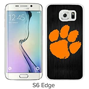 Fashionable Samsung Galaxy S6 Edge Case ,Unique And Popular Designed Case With Clemson Tigers White Samsung Galaxy S6 Edge Great Quality Screen Case