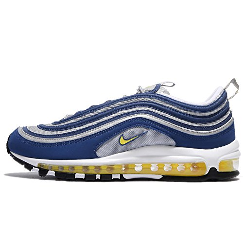 Nike Hommes Air Max 97, Bleu Atlantique / Tension Jaune Bleu Atlantique / Tension Jaune