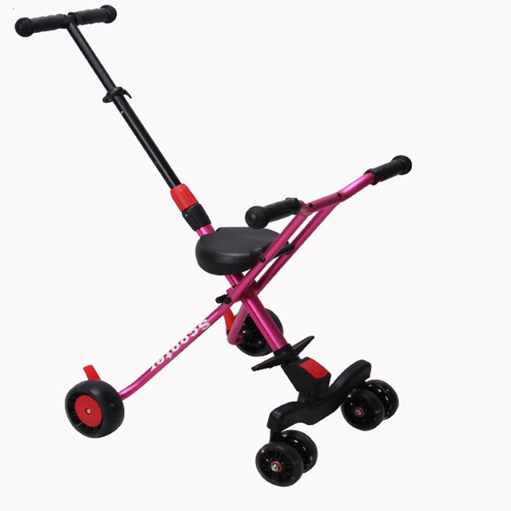 人気新品入荷 CHS@ : 子供の三輪車トロリー軽量折りたたみ6ラウンドベビーカーを散歩 子ども用自転車 B07PZJZSNB (色 : Pink) Pink 子ども用自転車 B07PZJZSNB, 美味しい天ぷらさつま揚げ豊島蒲鉾:0b9e792b --- senas.4x4.lt