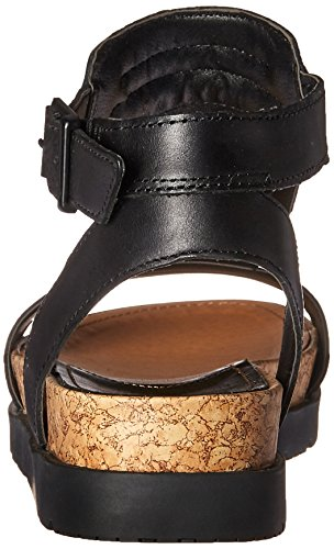 Caterpillar Womens Mystic T Strap Footbed Sandal Black VwaVBV4O94