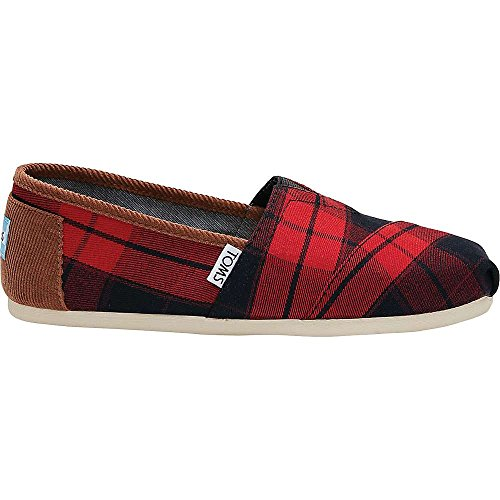 TOMS Classics Shoe - Women's Red / Black Plaid (Plaid Shoes)
