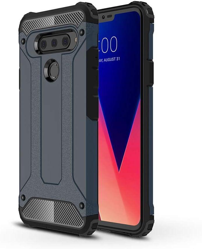 DEVMO Phone Case Compatible with LG V40 Hard Plastic Shell Case//Shockproof Hard Bumper//Protective Cover Grey Fit LG V40 ThinQ V400N V405UA V409N V405TAB V405QA7 V405EBW