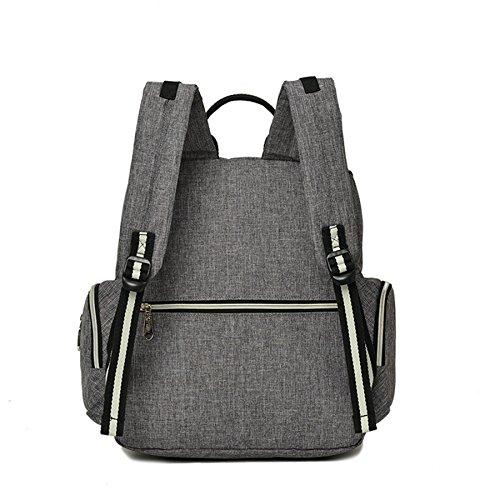 bigforest momia mochila bolsa de viaje multifunción bolso de maternidad Baby Diaper Nappy bolso cambiador gris Talla:talla única azul