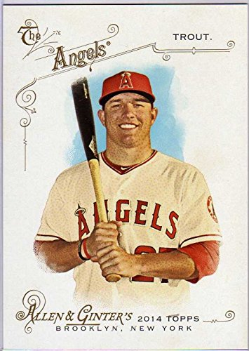 2014 Topps Allen and Ginter Oversized Reprint Cabinet Box Toppers #ORCBLMT Mike Trout - Cabinet Box Topper