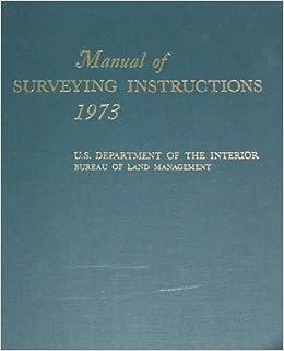 9780910845601: manual of surveying instructions 1973 abebooks.