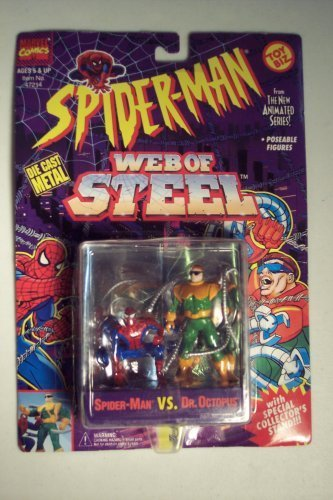 Web of Steel Spiderman The New Animated Series Spider-Man VS Dr. Octopus Die Cast Metal Figure (Spiderman The New Animated Series Green Goblin)