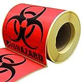 "Biohazard Warning Label, 4"" x 4"", 250 Labels Per"