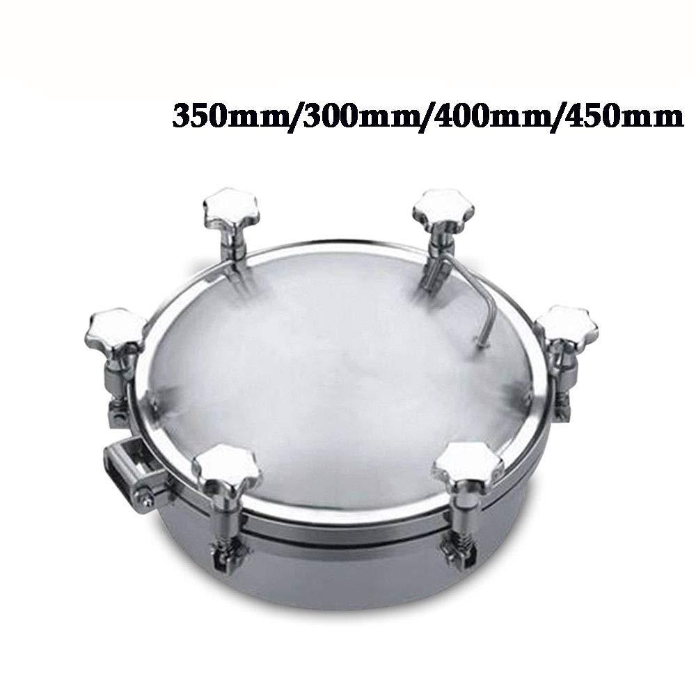 Stainless Steel Pressure Circular Manhole Cover Tank Round Manway Door 300-450mm (400mm)