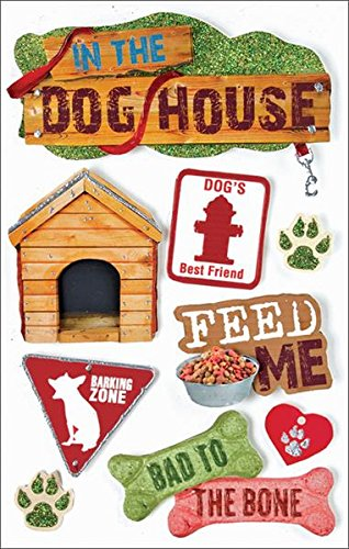 Paper House Productions STDM-0018E 3D Cardstock Stickers, Dog