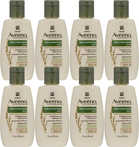 Aveeno Active Naturals Daily Moisturizing Lotion, Trial Size, 1 Ounce (Pack of 8) ()
