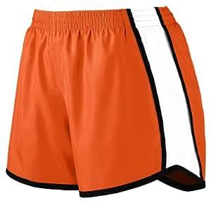Augusta Sportswear Women's Moisture Elastic Short, Orange/White/Black, Large