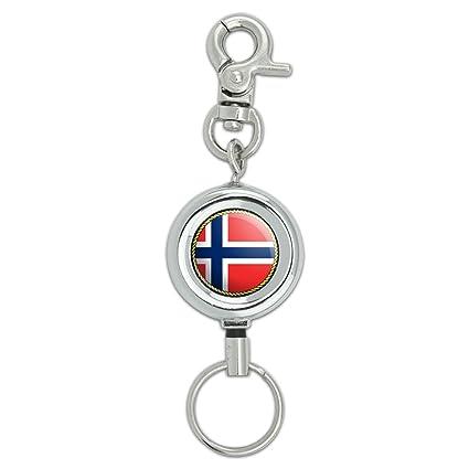 Bandera de Noruega cordón llavero Id Badge cinturón ...