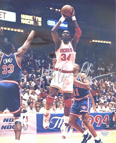 Signed Olajuwon Rockets Hakeem - Hakeem Olajuwon Houston Rockets Signed Autographed 8