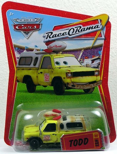 Race O-rama Series (Disney / Pixar CARS Movie 1:55 Die Cast Car Series 4 Race-O-Rama Todd Pizza Planet Truck by Disney)