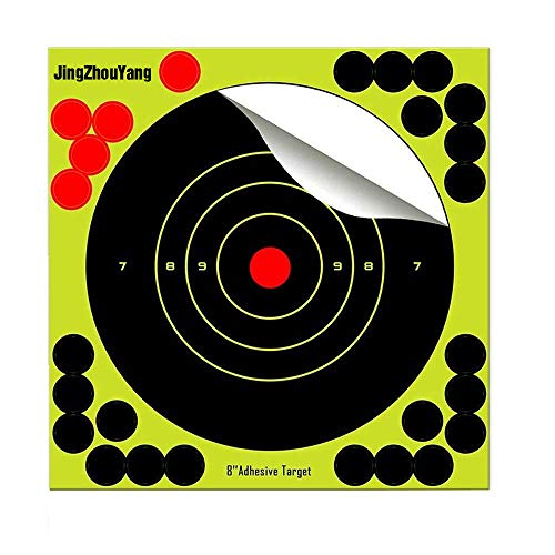 (Shooting Targets 8 Inch Self Adhesive Paper Reactive Splatter Targets Stickers - Gun Rifle Pistol Bb Gun Airsoft Pellet Gun Air Rifle (8 inch-50 Pack))
