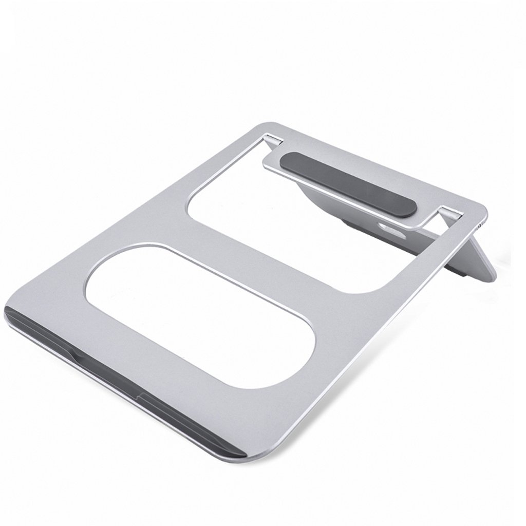 XY Soap dish Aluminum alloy apple office notebook, computer stand desktop cooling stand base folding, folding 18 degree elevation, oxidation treatment, size: 22.5cm 22.8cm 8cm, (Color : B)