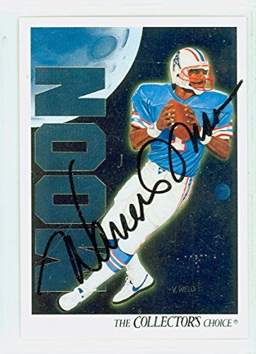 Warren Moon AUTOGRAPH 1991 Upper Deck Checklist Card Houston Oilers HOF '06 Checklist Autographed Card
