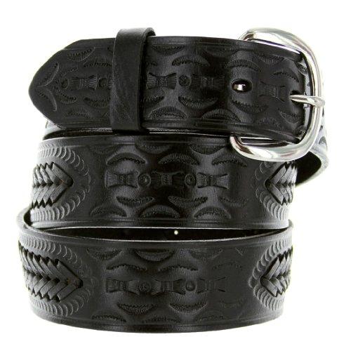 Arrow Leather Belt (2287 Western Floral Basketweave Genuine Leather Belt (34,)
