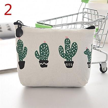 Cosanter 3Pcs Monedero Carteras de Lona de Patrón de Cactus para Mujer Bolso de Mano con Llaves Monedas Tarjetas Dinero: Amazon.es: Oficina y papelería