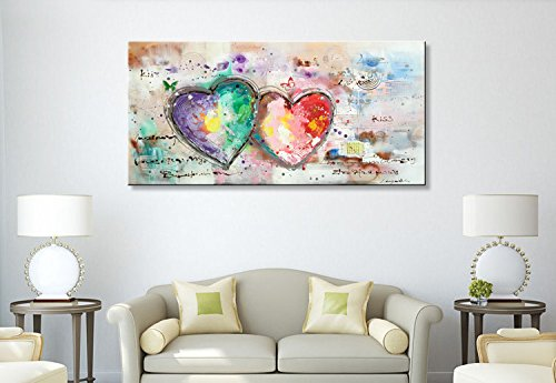 Everfun Handmade Abstract Oil Painting Contemporary Heart