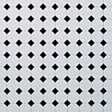 Dolls House Flooring Paper - Octagonal Tiles Plain Black