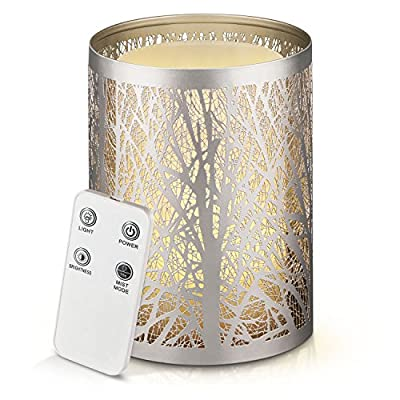 Odoga Sparkling-Light Aromatherapy Essential Oil Diffuser Whisper Quiet Ultrasonic Cool mist Humidifier [100ml/Water Shortage Auto Shut-Off/Warm White Color Candle Light Effect/Remote Control]