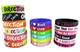 18pcs 1d Bracelet Lot POP Band Silicon Wristband