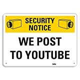 """Product review for PetKa Signs and Graphics PKFO-0026-NA_10x7 """"We Post to YouTube"""" Aluminum Sign, 10"""" x 7"""""""