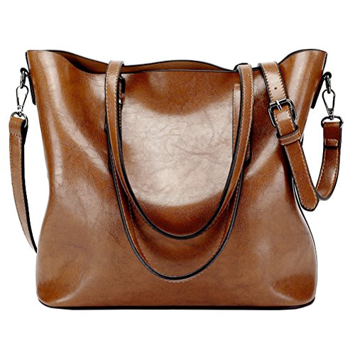 Bags Body Casual Women Leather Ladies Tote Supstar Bag Vintage Shoulder Handbag Handbags Cross Brown Large PU q0fza