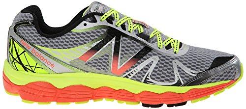 New Balance M880 D V4 - Zapatillas de running de material sintético para hombre Multicolore (Sy4 Silver/Yellow)