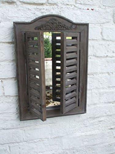 Dekorativer Spiegel M Fensterlädenwandspiegel 45x31 Cm